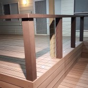 Composite wood deck & Balustrade