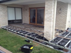 Extension and elevation of an existing concreted terrace