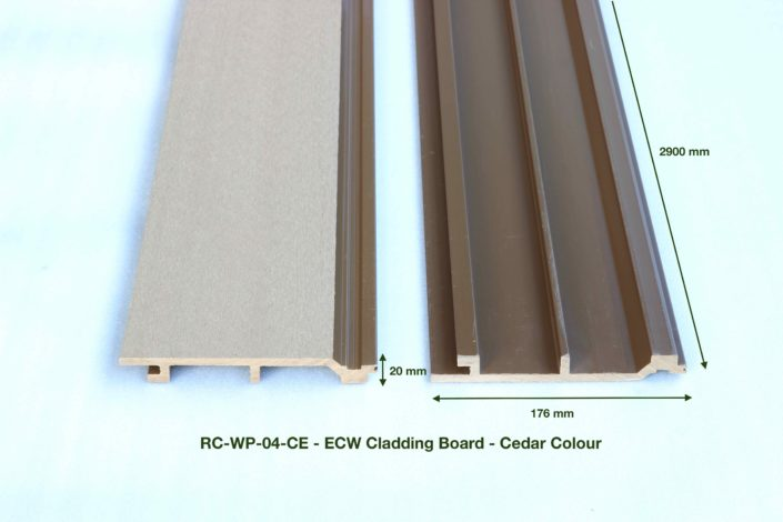 RC-WP-04-CE - ECW Cladding Board - Cedar Colour