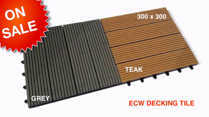 DECKO Composite Decking TilesSize: 300 x 300 x 20mm (price
